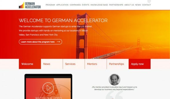 Der German Silicon Valley Accelerator erfüllt Gründerträume: Er bringt Startups für drei Monate zum Coaching ins Tech-Mekka. (Screenshot: t3n)