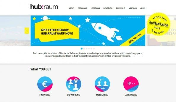 Der Startup-Accelerator der Deutschen Telekom soll vor allem Geschäftsmodelle aus den Bereichen Internet of Things, Security und Health vorantreiben. (Screenshot: t3n)