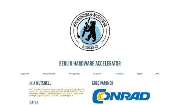 Lange vermisst, jetzt endlich da: Berlin hat seinen eigenen Accelerator für Hardware-Startups. (Screenshot: t3n)