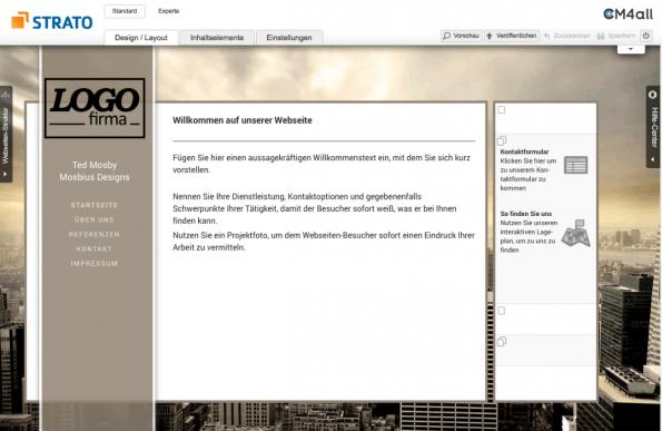 Strato Homepage Baukasten