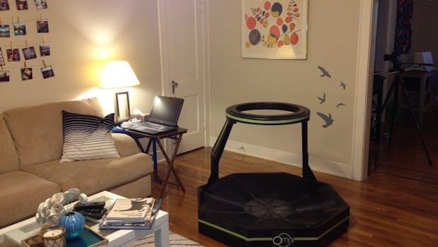 Omni wandelt Schritte in der virtuellen Realität in Bewegungen um. (Bild: Virtuix)