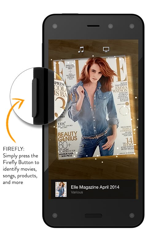 Firefly: Mit einem Druck auf den Button erkennt das Smartphone alle möglichen Gegenstände und der Nutzer kann diese sofort auf Amazon kaufen. (Quelle: Amazon.com)
