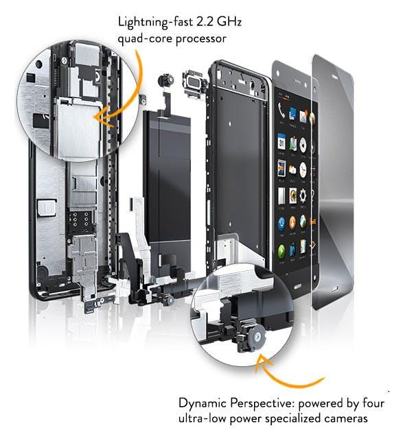 Das Amazon Fire Phone bietet ein 4,7 Zoll großes Display, das besonders gut in der Sonne lesbar sein soll, allerdings nur mit bescheidener 720p-Auflösung (Quelle: Amazon.com)