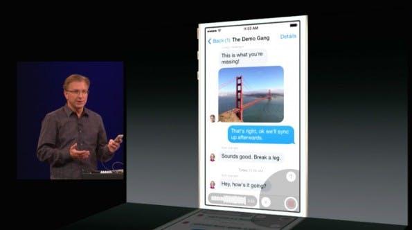 Auch das Versenden von Sprachnachrichten, wie es von WhatsApp bekannt ist, wird jetzt unterstützt. (Screenshot: Apple)