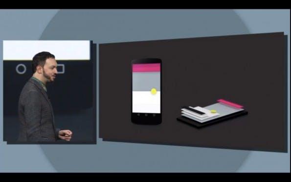 """Im """"Material Design"""" verfügt jedes UI-Element auch über einen z-Index, also eine  Tiefen-Koordinate. (Screenshot: Youtube.com)"""