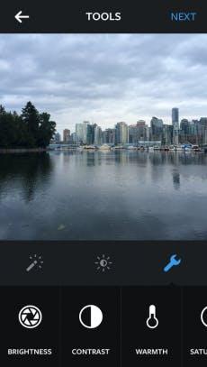 Instagram 6.0 bietet nun ein ganz neues Menü mit manuellen Funktionen für die Bildbearbeitung. (Quelle: Instagram)