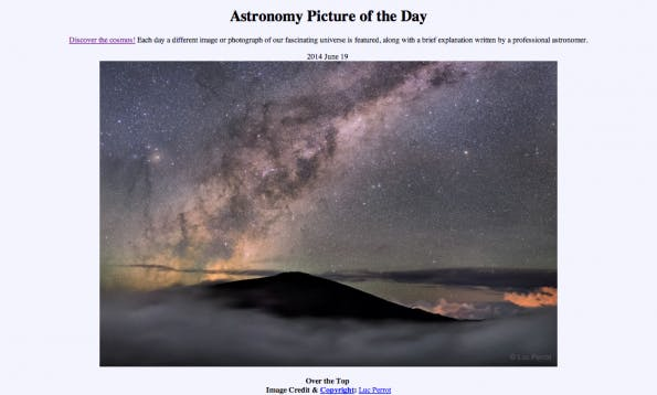 Prokrastination leicht gemacht: Astronomy Picture Of The Day.