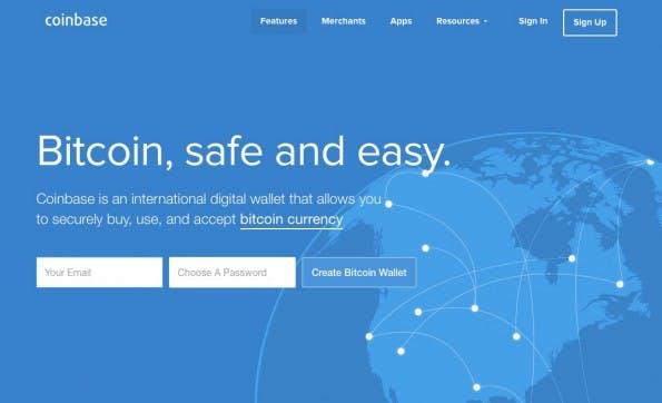 Bisher Payment-Provider, jetzt mit einer Börse am Start: Coinbase. (Screenshot: Coinbase)