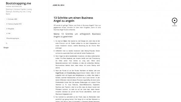 t3n-Blogperlen Startups #7:  Bootstrapping.me. (Screenshot: t3n)