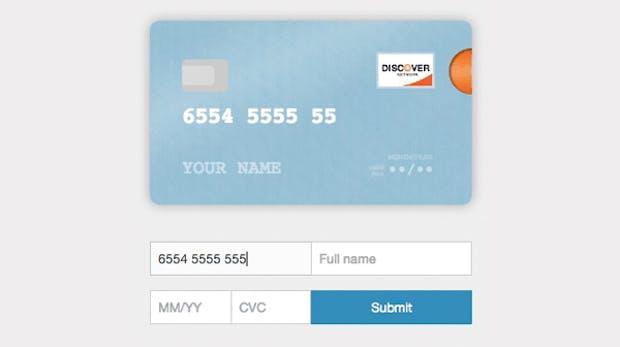 Animiertes Kreditkarten-Formular für Shopbetreiber: So schick kann Online-Payment sein