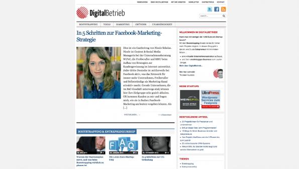 t3n-Blogperlen Startups #2:  DigitalBetrieb. (Screenshot: t3n)