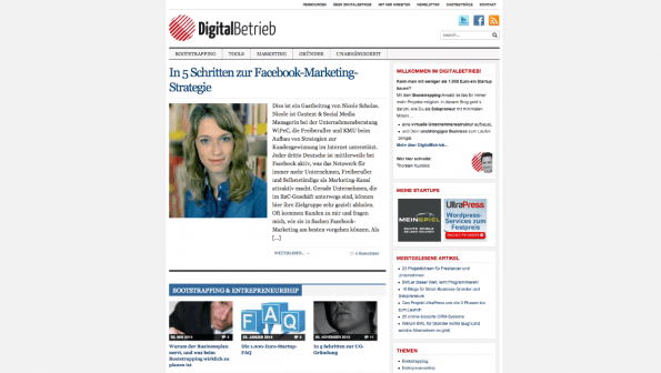 t3n-Blogperlen Startups #2:  DigitalBetrieb. (Screenshot: t3n)