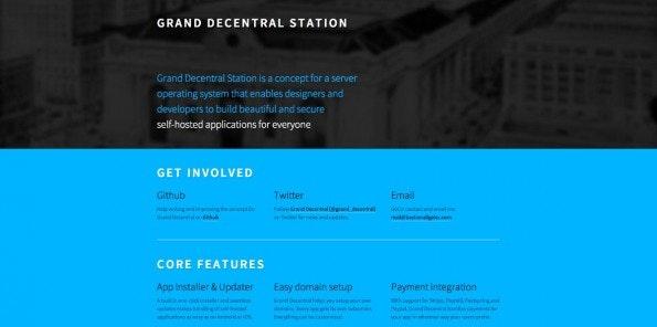 """Das Projekt """"Grand Decentral Station"""" könnte ein Schritt in die richtige Richtung sein. (Screenshot: decentralize.it)"""