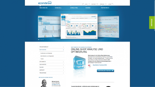 Business-Intelligence-Tools: Econda. (Screenshot: t3n)