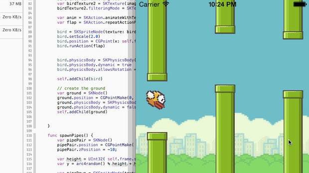 Swift: Flappy Bird in Apples neuer Programmiersprache nachgebaut
