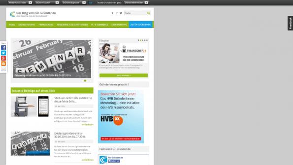 t3n-Blogperlen Startups #8:  Fuer-Gruender.de. (Screenshot: t3n)