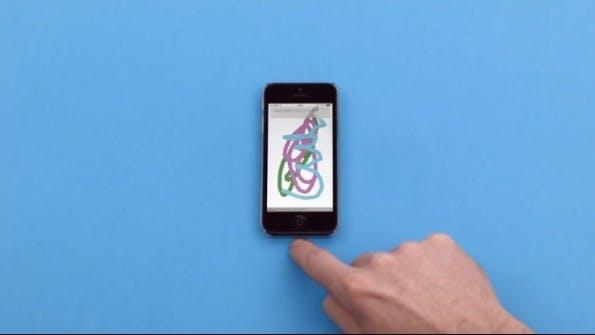 Über die ausgelagerte toucscreensteuerung mit fuffr lässt sich auch schreiben. (Screenshot: fuffr.com)