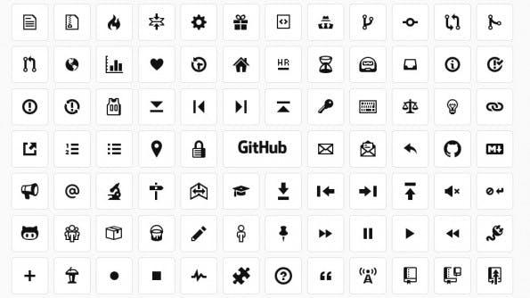 Octicons: GitHub stellt den eigenen Icon-Font unter eine offene Lizenz. (Screenshot: GitHub)