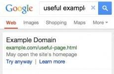 Diesen Hinweis erhalten Google-Nutzer, wenn sie auf die mobile Startseite geleitet werden. (Screenshot: Google)