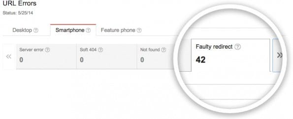 Google hilft: In den Webmaster-Tools sind fehlerhafte Smartphone-Weiterleitungen zu sehen. (Screenshot: Google)