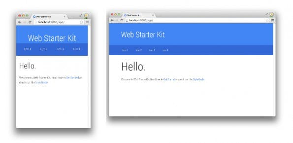 Web Starter Kit: Google stellt Boilerplate für responsive Web-Apps vor. (Screenshot: Google)