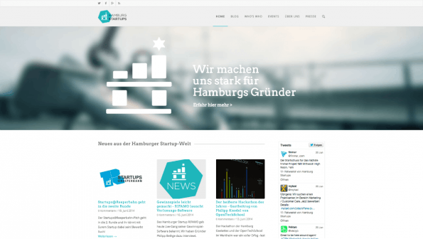 t3n-Blogperlen Startups #4:  Hamburg Startups. (Screenshot: t3n)