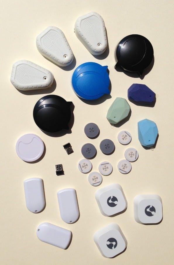 Verschiedene Bauformen lieferbarer Beacons