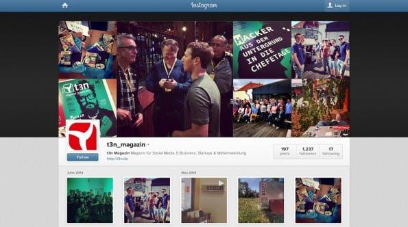 Social-Media-Marketing: Das Foto-Netzwerk Instagram hat bietet einige Vorteile für Marken. (Screenshot: Instagram / t3n)