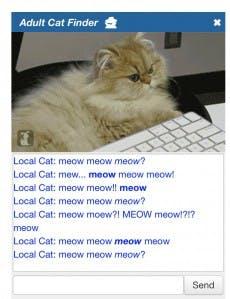 "Meow?"" (Screenshot: t3n)"