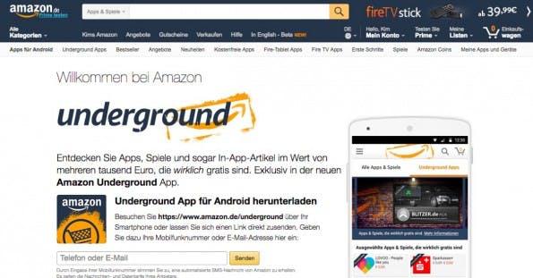 Kostenlose Android-Apps findet ihr bei Amazon Underground. (Screenshot: Amazon.de)