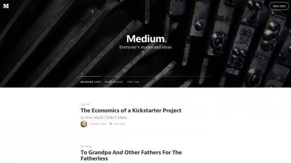Medium: Die Publishing-Plattform kann auch als Teil eurer Content-Marketing-Strategie genutzt werden. (Screenshot: Medium)