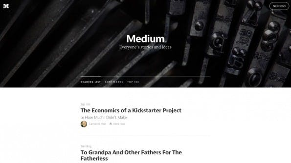 Medium: Die Publishing-Plattform kann auch als Teil eurer Content-Marketing-Strategie genutzt werden. (Screenshot: Medium)