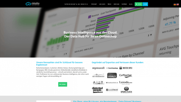 Business-Intelligence-Tools: Minubo. (Screenshot: t3n)