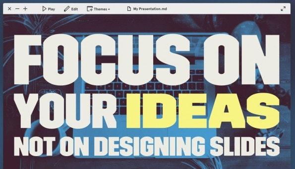 Mit Deckset lassen sich auf dem Mac Präsentationen aus Markdown erstellen. (Bild: Deckset)