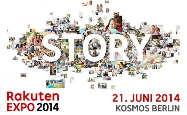 """Die Rakuten Expo 2014 steht unter dem Motto """"Story"""". (Grafik: Rakuten)"""