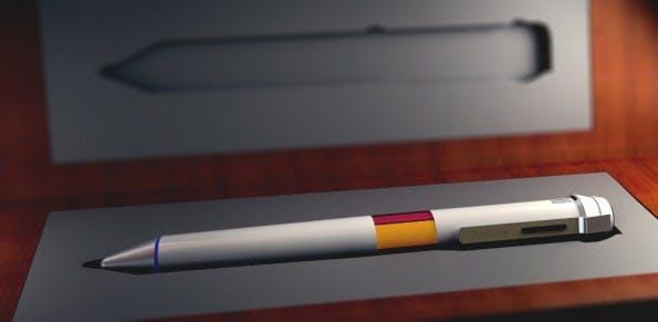 Scribble: Der Hightech-Stift kommt mit einem Sensor zur Farberkennung. (Bild: Scribble)