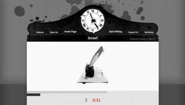 Content Marketing: Scrawn macht langsamen Textern Beine. (Screenshot: Scrawn)