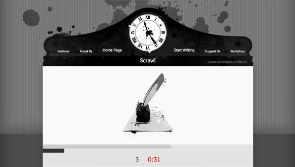 Content Marketing: Scrawn macht langsamen Textern Beine. (Screenshot: Scrawn)