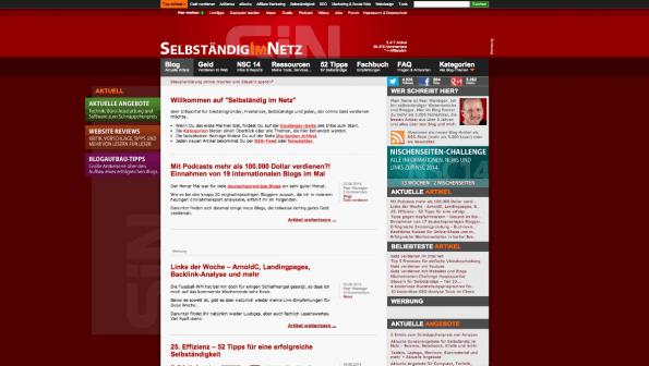 t3n-Blogperlen Startups #3:  Selbstständig im Netz. (Screenshot: t3n)