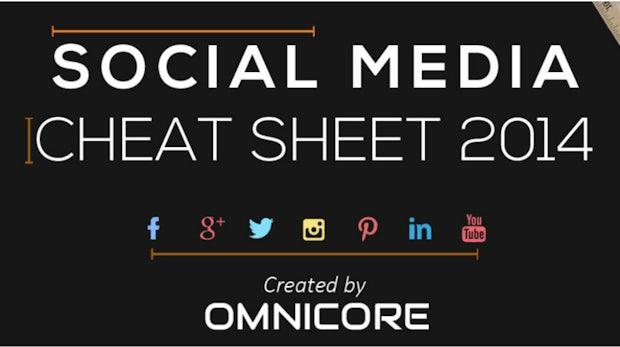 Alles auf einen Blick: Das Social-Media-Cheat-Sheet 2014