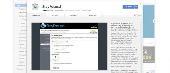 StayFocused: Keine Ablenkung mehr durch Facebook und Co. (Screenshot: Google)