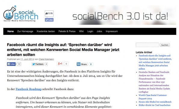 "t3n-Blogperlen – Social Media #2: ""Social Bench Blog"""