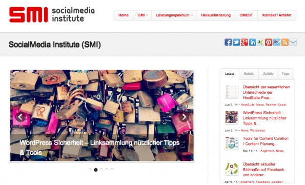 "t3n-Blogperlen – Social Media #8: ""SocialMedia Institute""."