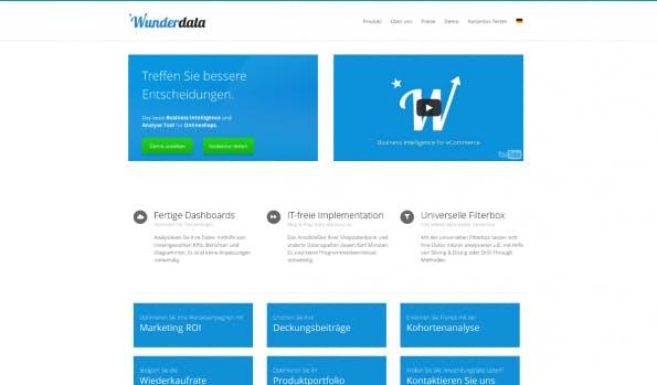Business-Intelligence-Tools: Wunderdata. (Screenshot: t3n)