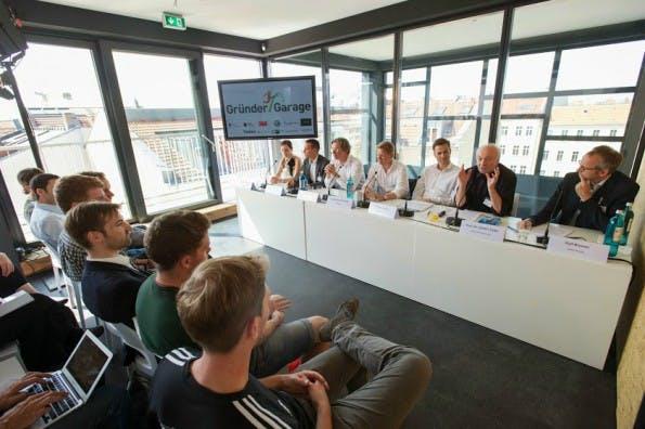 Gründer-Garage: Pressekonferenz zum Start des Start-up-Förderwettbewerbs