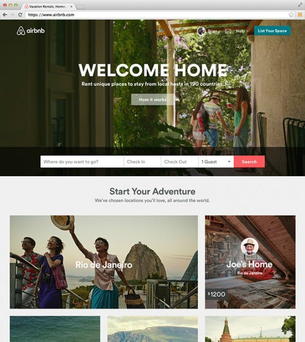 Airbnb: Website nach Redesign