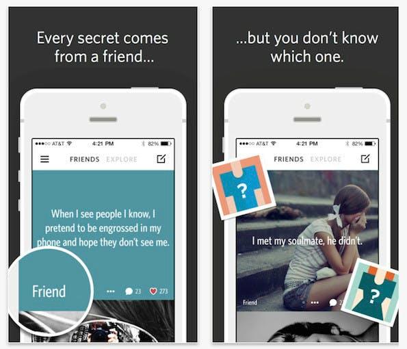 Secret: Eines der aufstrebenden neuen Social Networks (Screenshot: Secret)
