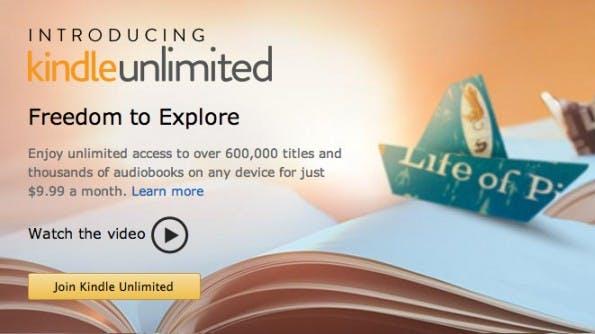 Kindle Unlimited: Amazon plant Flatrate für E-Books. (Screenshot: Amazon / Google Cache)