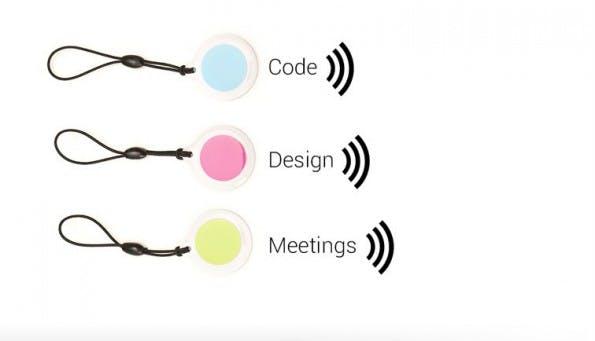 Time-Tracking mal anders. Für die App Jiffy werden kleine NFC-Tags angeboten, mit denen sich die Zeiterfassung für ein Projekt starten lässt. (Bild: Jiffy)
