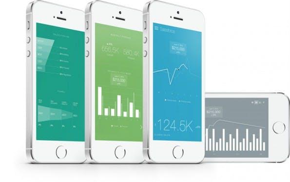 Die Databox-App bringt alle relevanten Datendienste – darunter Google Analytics, MailChimp und Salesforce – in einer schönen Oberfläche zusammen. (Foto: Databox)